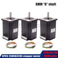 3pcs Nema23 Stepper Motor 2.2N.m NEMA 23 23hs8328 315 Oz in 57x83mm for 3D printer CNC engraving milling machine