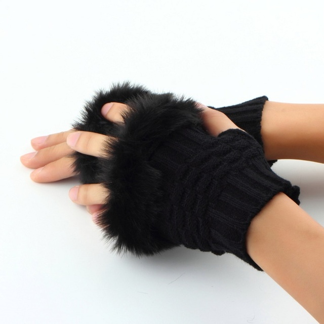 Women Fingerless Gloves...
