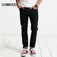 SIMWOOD Jeans Men 2017 Summer Autumn New Male Cotton Slim Fit Zipper High Quality Brand Clothing