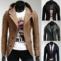 2015 nueva marca coreana Slim Fit traje chaqueta sudaderas para hombre ropa prendas de vestir exteriores de otoño estilo moda Blazer hombres trajes casuales MBL016