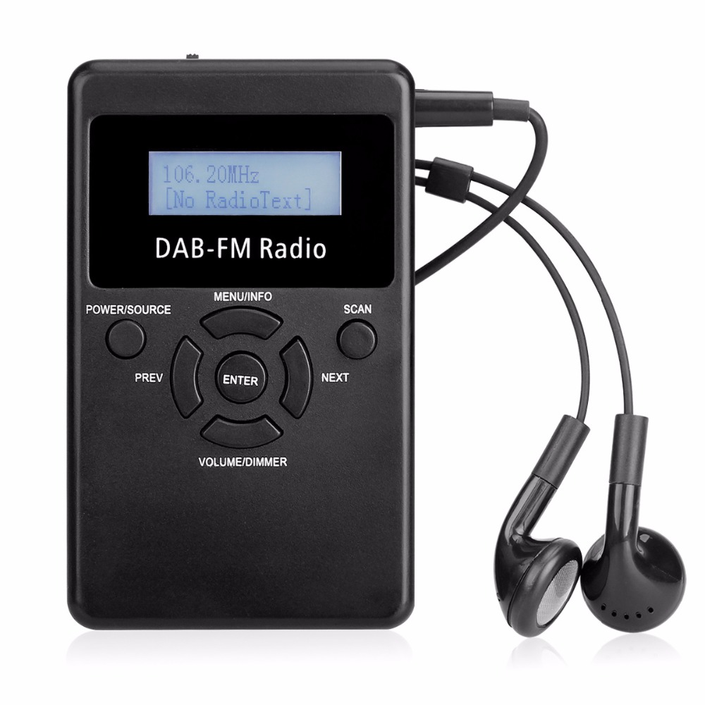 Mini DAB Digital Radio Receiver FM Portable Radio Handheld Pocket RDS Receiver With Rechargeable Battery & Earphone Y4426A цены онлайн