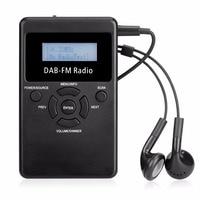 Mini DAB Digitale Radio Ontvanger FM Draagbare Handheld Pocket RDS Ontvanger Met Oplaadbare Batterij & Oortelefoon Y4426A
