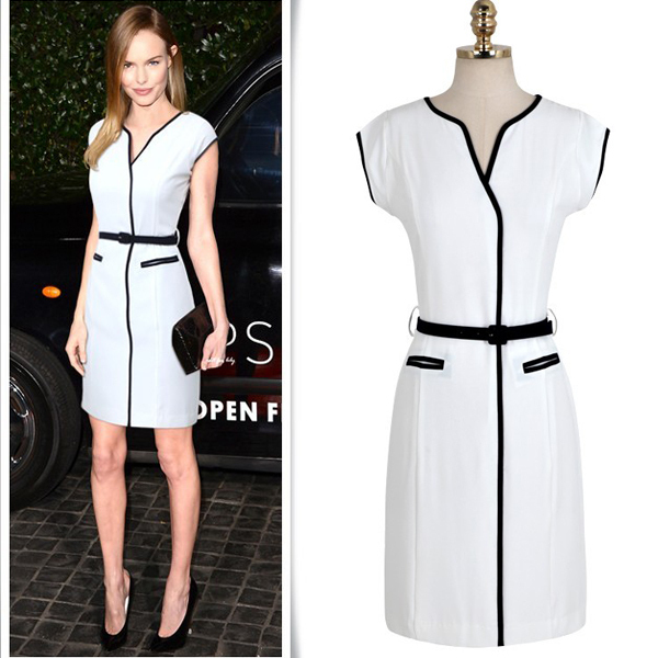 free shipping white amp black casual business wear office