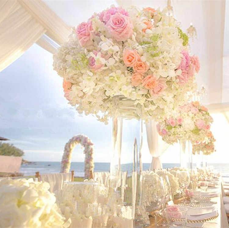 Hot Pink Big Wedding Artificial Flower Bouquet Table Centerpiece Flower Decoration Party Supply Diameter Of 40cm Artificial Dried Flowers Aliexpress