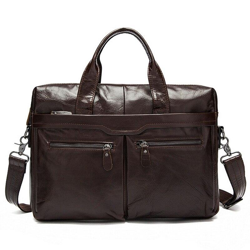 2017 Men Casual Briefcase Business Shoulder Bag Leather Messenger Bags Computer Laptop Handbag Bag Men's Messenger Bags
