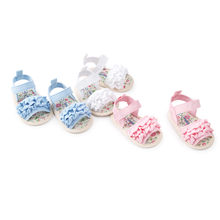 Summer Kids Shoes Baby Flower Sandals Shoe Casual Shoes Sneaker Anti-slip Soft Sole Toddler Shoes Toddler Sandals Princess jelly(China)