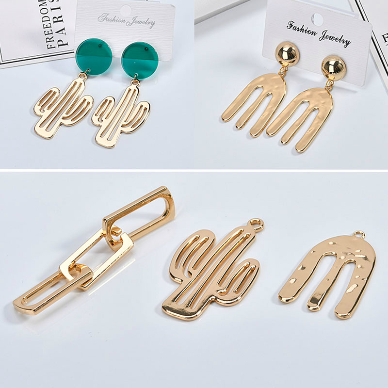 Diy jewelry accessories color-preserving electroplating allo
