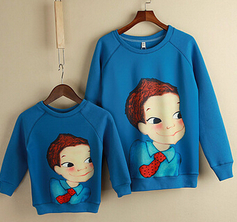 New Spring&Autumn Family Clothing Matching Mother And Daughter Clothes Cotton Letter Printing Fashion Parent-child Hoodies