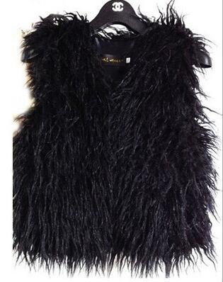 336138b4c Fashion baby girl faux fur vest children girl flush fleece vest ...