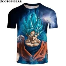 Numérique Galaxy Goku 3D Impression t-shirt Hommes D'été Anime à Manches  courtes Tops & T-shirts T-shirts Dragon Ball Drop Ship .