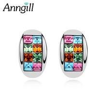 Роскошные женские сережки с кристаллами Сваровски модные вечерние