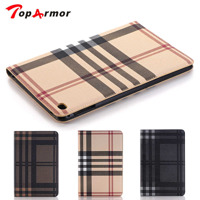 TopArmor Lattice Style With Stand Flip PU Leather For Apple iPad pro Case For ipad pro 12.9 inch Smart Case Cover durable retro style solid color flip pu leather wallet case for huawei honor 8 pro