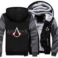 США размер Мужчины Женщины Игры Movie Assassins Creed Молния Куртка Сгущает Толстовка Пальто Clothing Casual