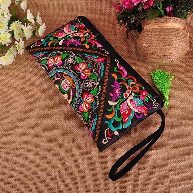 Handbag Purse Floral-Bags Boho Shoulder Embroidered Vintage Gift Ethnic Messenger New