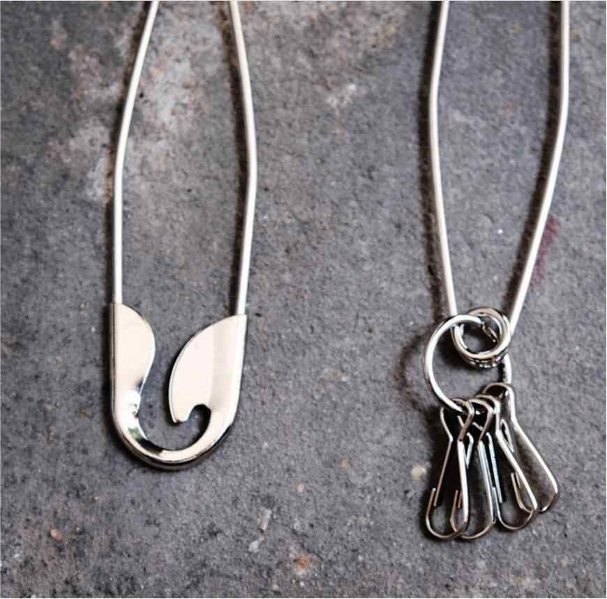 Металлический кошелек ремень цепи в стиле панк Рок мотобрюки брюки-хипстер Жан брелок серебро булавки кольцо клип для мужчин хип хоп ЮВЕ