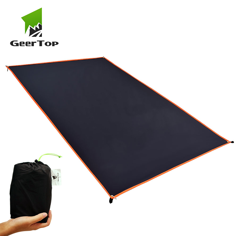 GeerTop Ultralight Camping Tarp Waterproof Picnic Mat Coating Sun Shelter Mutifunctional Hiking Tent Footprint Tourist Backpack