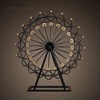 European household living room retro Wrought iron ferris wheel model Decoration ideas Wedding gift jewelry gifts