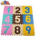 MEI QI FRESCO Enigma Tapete Esteira Do Jogo Do Bebê Chão Puzzle tapete EVA Espuma Tapete De chão de Mosaico Em Desenvolvimento das Crianças Rastejando Tapetes dígitos