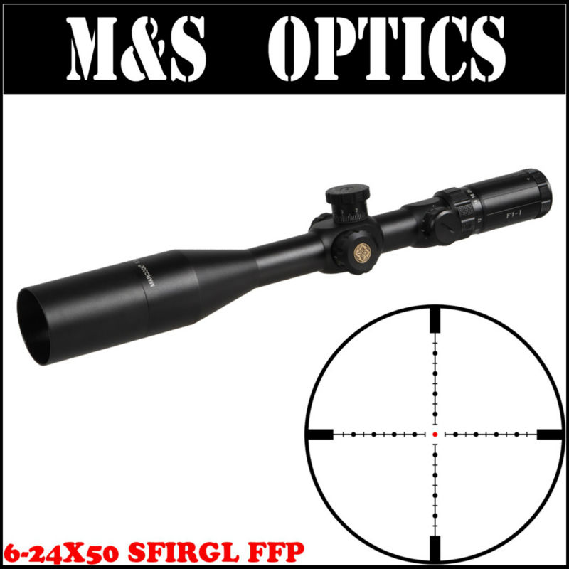 Marcool 6-24X50 SFIRGL FFP Side Focus Hunting Optical Sight For Rifles Free Scope Rings Mount & Scopes Sunshade For Tactical Gun marcool 4 16x44 side focus front focal plane optical sights rifle scope hunting riflescopes for tactical gun scopes for adults