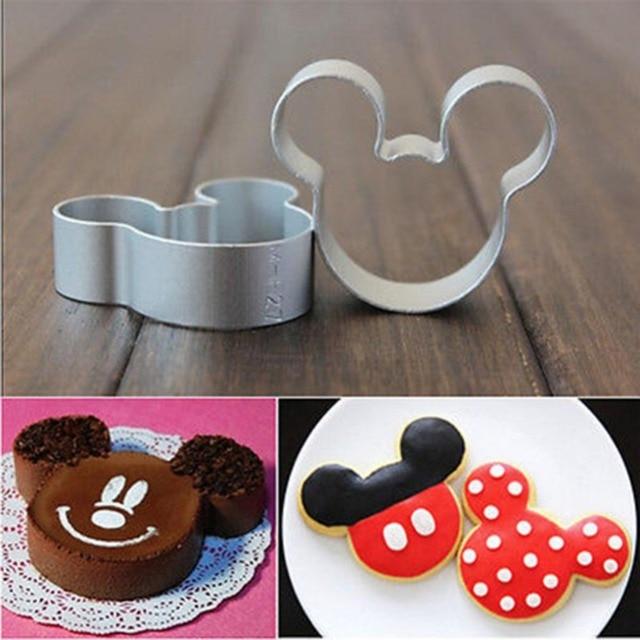 diy cuisson outils beau dessin animé mickey mouse forme métal