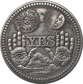 Hobo nikiel amerykański morgan dolar moneta typ kopii 137 tanie i dobre opinie Chiny Antique sztuczna Miedzi Gyphongxin CASTING Ludzi 1900-1919 coin