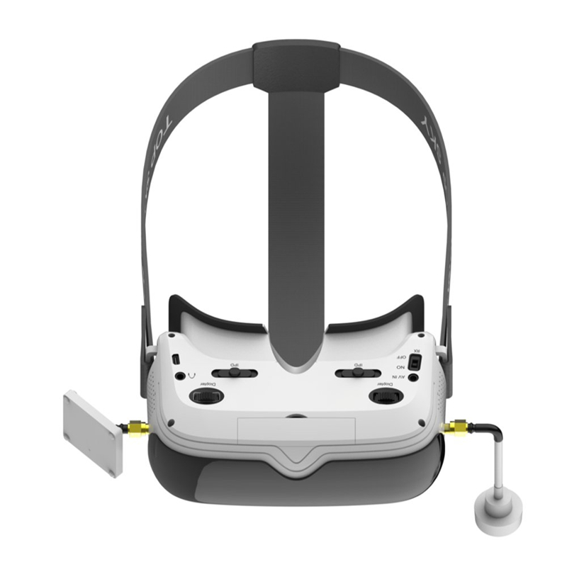 TOPSKY Prime1S 5 8G 48CH 2 4 Inch FPV Goggles Diversity Receiver Built In Battery DVR