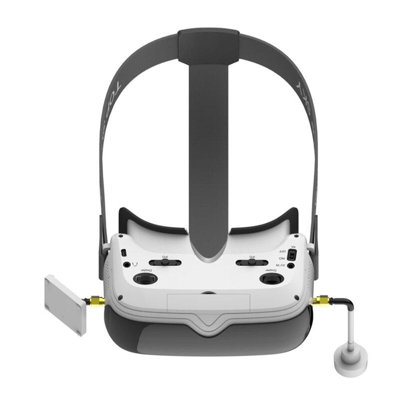 TOPSKY Prime1S 5.8G 48CH 2.4 pouces FPV lunettes diversité récepteur batterie intégrée DVR pour RC Drone quadrirotor pièce de rechange