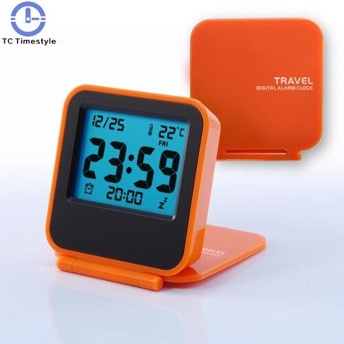 Eenvoudige Moderne Handig Draagbare Wekker Elektronische Mini Reizen Nachtkastje Stille Awakening Dichtslaande Creatieve Uitstekende Kwaliteit