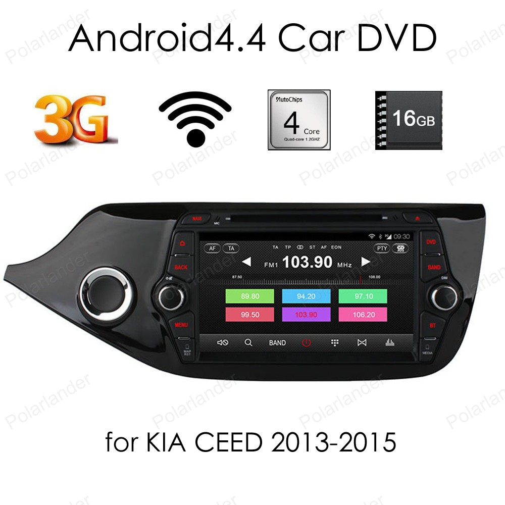 Для KIA CEED 2013 2015 2 din Android 4.4 Quad Core dvd плеер автомобиля 8 дюймов 1024*600 экран автомобиля стерео радио