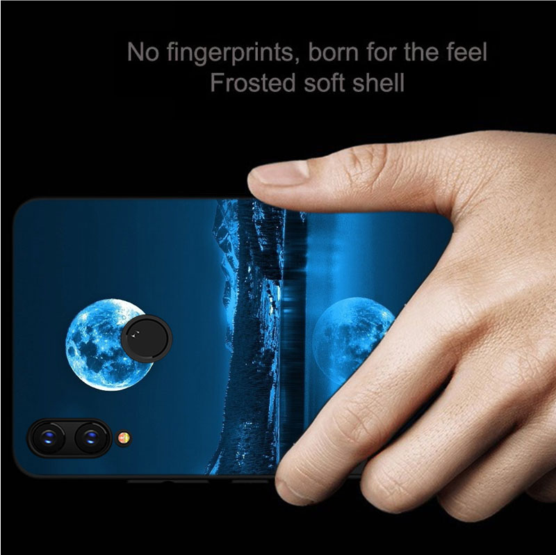 Case For huawei p30 pro nova 2i 4 4e Mate 20 10 lite Y5 6 7 pro P smart 2019 Black Soft Silicone Cover phone Case in Fitted Cases from Cellphones Telecommunications