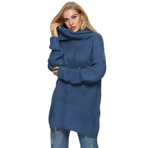 802c72628f445 MUQGEW Women Plus Size Long Sleeve Warm Tops Female Sweater