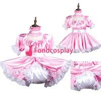 Сисси горничной атласное платье с замочком форма карнавальный костюм Сделанные на заказ [G3736]