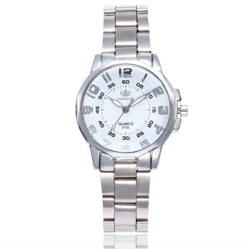 Women Fashion Stainless Steel Band Analog Quartz Round Wrist Watch Clock Business Luxury Elegant Watches Vintage Bracelet  Z20 fashion stainless steel rhinestones quartz analog wrist watch for women golden 1 x 377