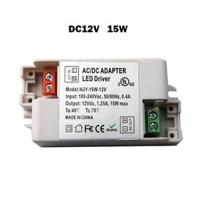 Image 5 - 12V LED Driver Transformers AC110V 220V TO DC12V Power Supply Adapter for 6W 15W 30W 36W 60W LED light bulb strips Household Use