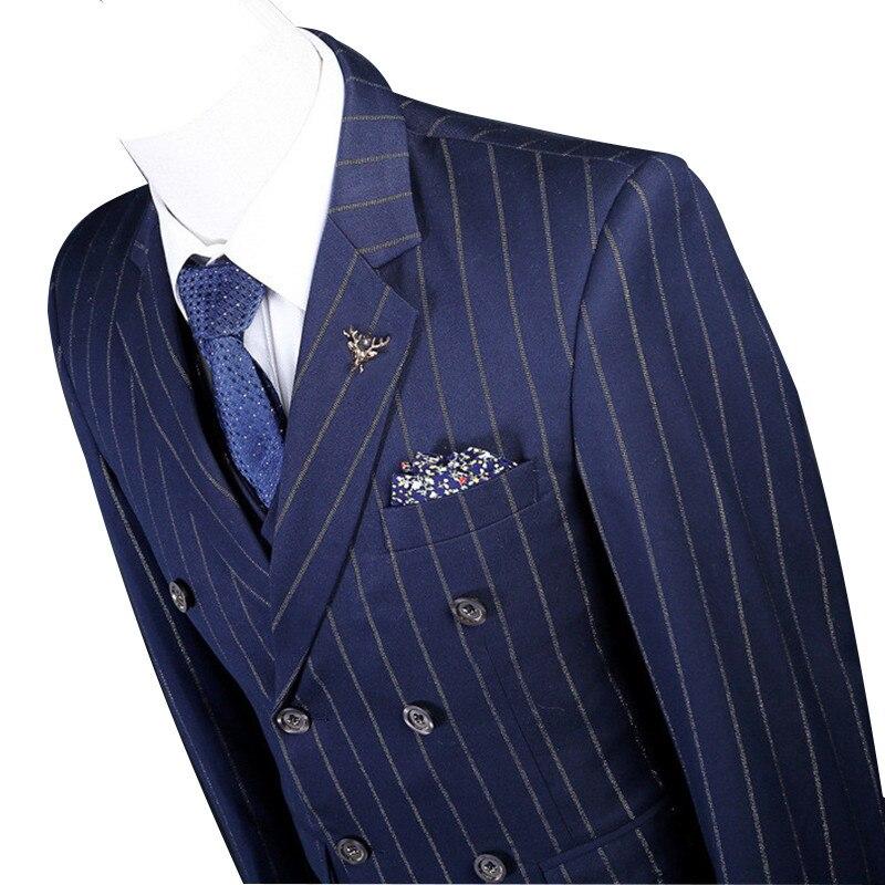 THE Maxpa (veste + pantalon + gilet) marque hommes costume de mariage costume  homme printemps automne bleu rayures décontracté ample robe de soirée de  bal ... 4310fafccc7