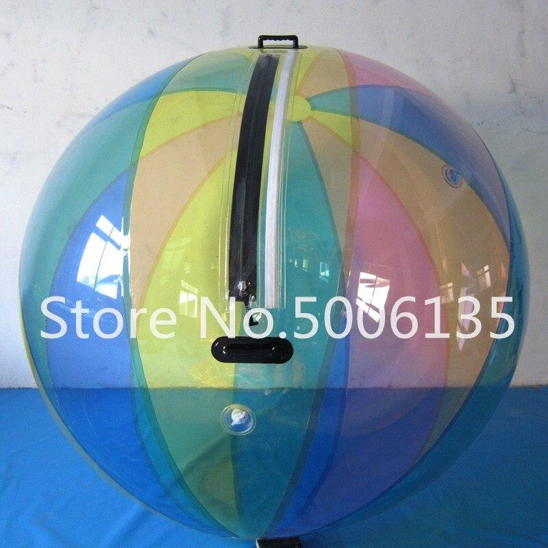 Boule gonflable de jouet boule gonflable de marche de l'eau de PVC jouets résistants à l'usure boule de danse avec la tirette pour la piscine extérieure