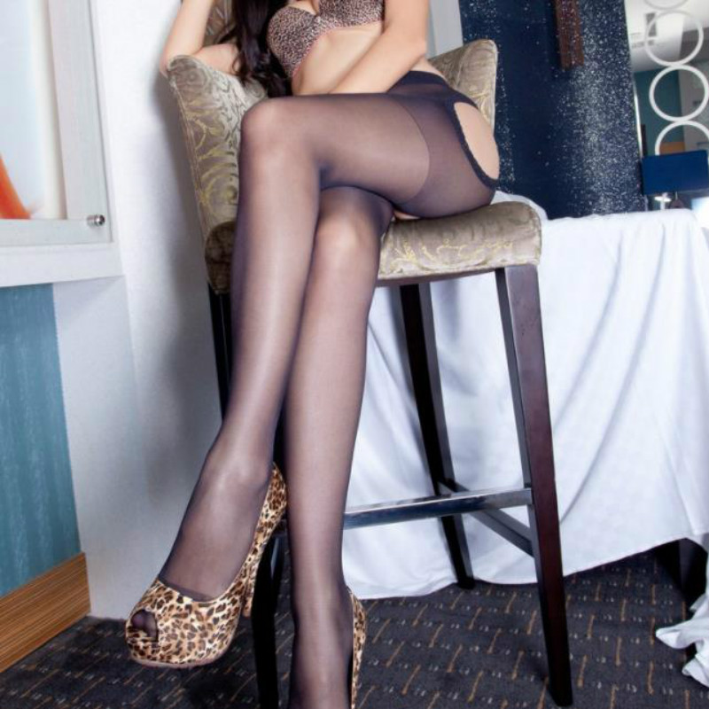 Buy Sexy Lady Lace Open Crotch Soft Tights Elastic Pantyhose Stockings Women Fashion Black Cutout Stocking 2018 New Arrival