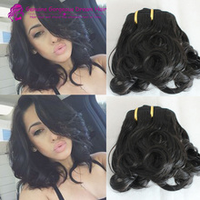 7A double drawn virgin hair extensions nigerian funmi aunty  hair extensions for short hair 1pc/lot bouncy curls hair weft