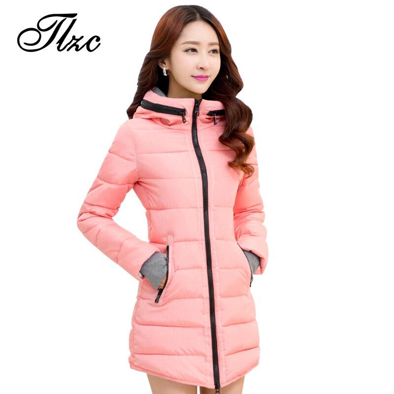 Tlzc marca nueva chaqueta de invierno de las mujeres parkas de algodón de gran t
