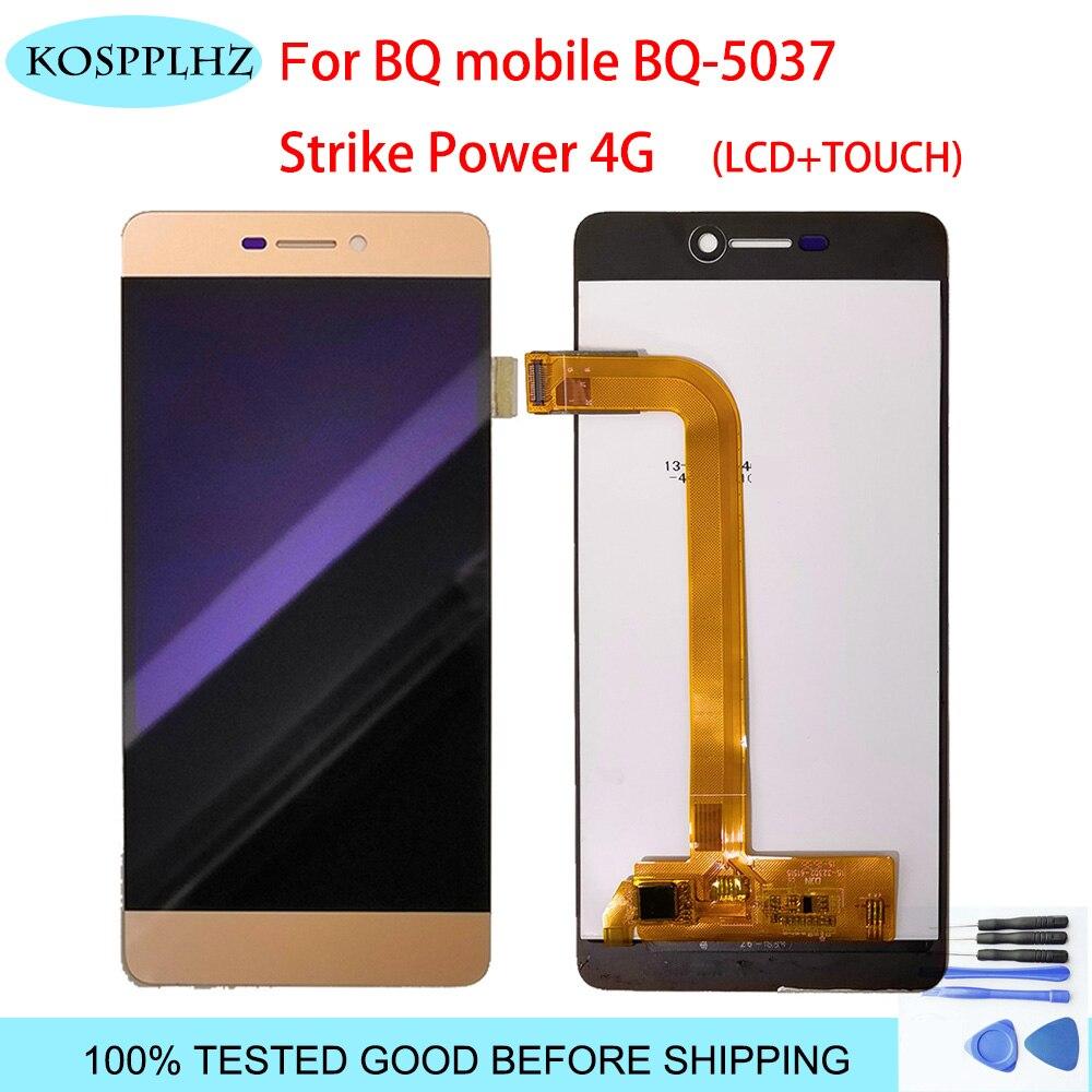 5,0 zoll Für BQ mobile BQ-5037 BQS-5037 BQS 5037 BQ 5037 bq5037 bqs5037 LCD Display + Touch Screen + werkzeuge + Adhesive