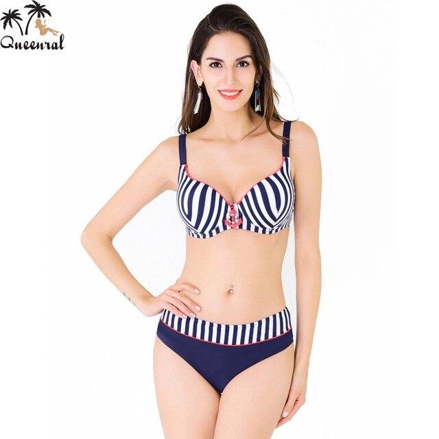 e0add351d Queenral Bras mujeres de Gran Tamaño traje de Baño ropa de playa traje de  baño femenino
