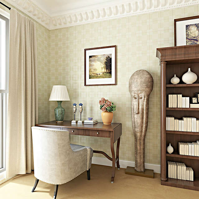 US $68.99  0.53x10 m blu Scuro lattice modello carta da parati in stile  inglese soggiorno camera da letto carta da parati TV sfondo wallpaper ...