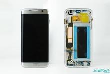 Оригинальный супер AMOLED для Samsung S7 Edge G935F G935fd ЖК дисплей с сенсорным экраном и рамкой 5,5