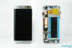 Image 1 - Super AMOLEDสำหรับSamsung S7 Edge G935F G935fd Burn In ShadowจอแสดงผลLcd Touch Screen Digitizerกรอบ5.5