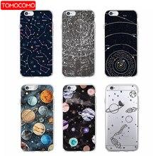 Космическое пространство планета космический корабль Созвездие Звезды Луна мягкий прозрачный чехол для iPhone 7 плюс 6 S 5 5S X XS Max SAMSUNG