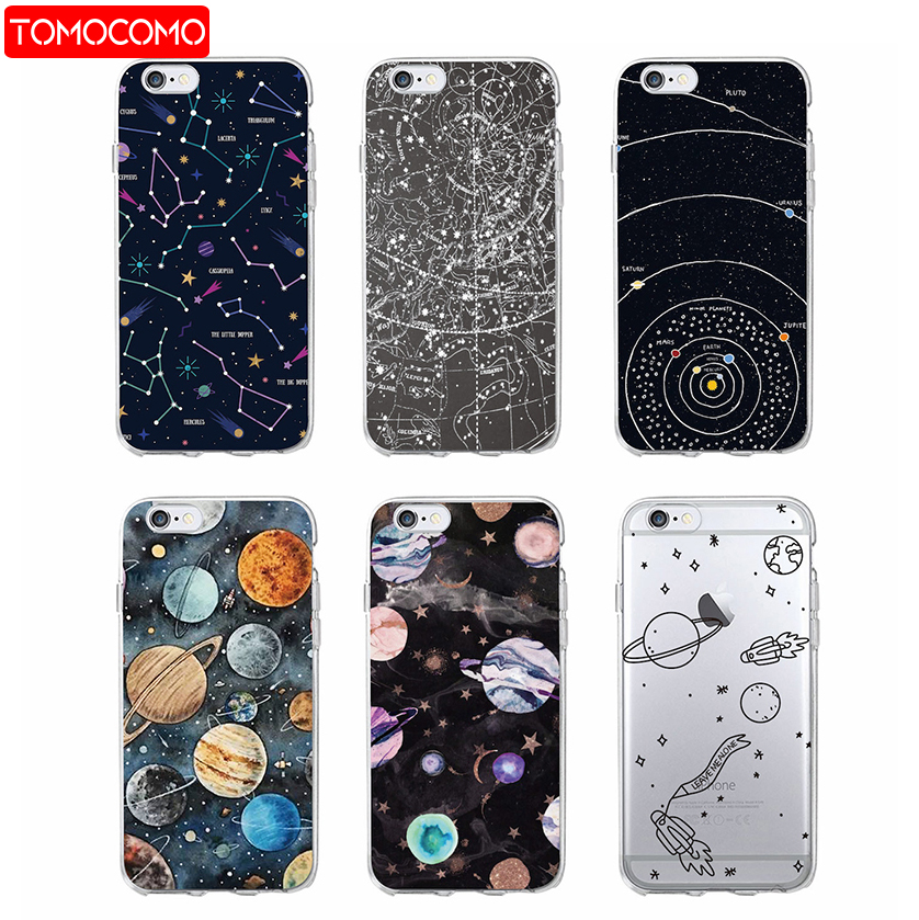 Outer Space Planet Spaceship Constellation Stars Moon Soft