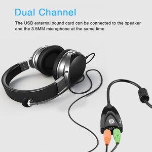 USB 2,0 Звуковая карта 5HV2 внешний 7,1-канальный адаптер с 3D виртуальным звуком Звуковая дорожка гарнитура микрофон 3,5 разъем для ноутбука ПК