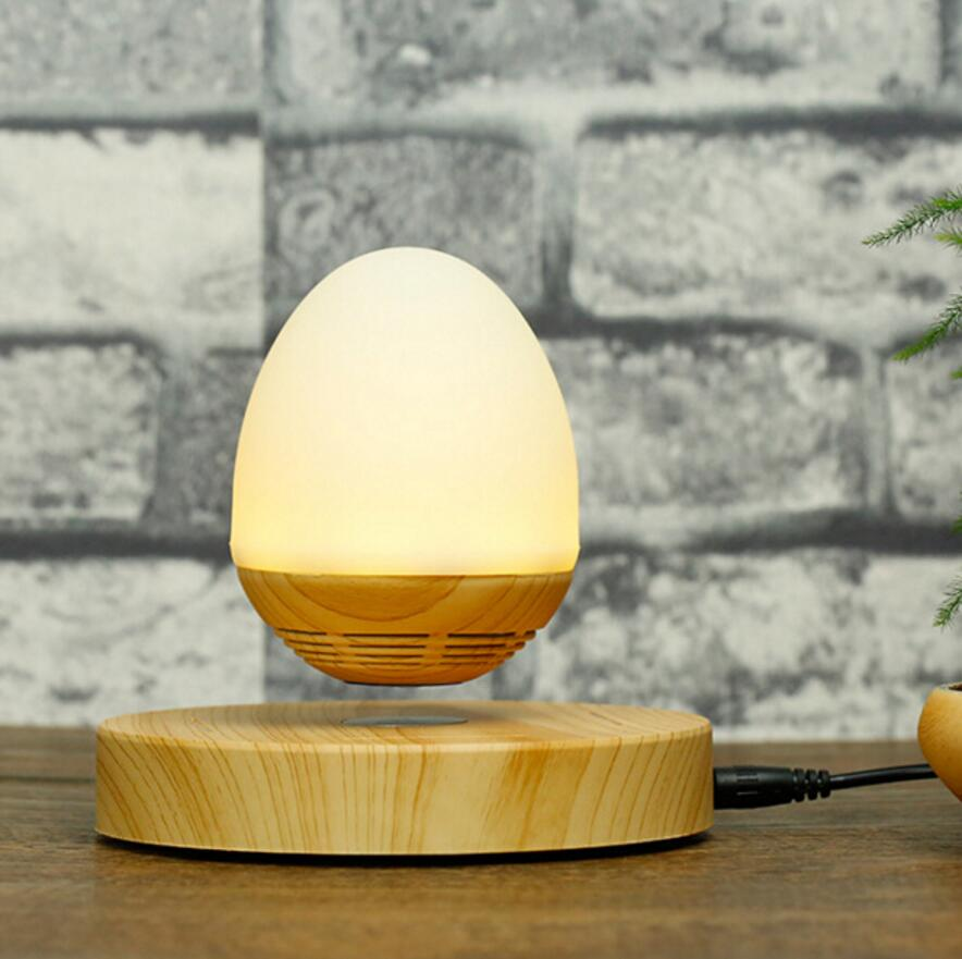 Hot ! LED Bulb Portable Levitating Bluetooth Speaker Wood Grain Base Floating Maglev Speaker 360 Degree with NFC for Smartphone крепление датчика холла на шевроле ланос купить