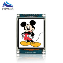 1.77 дюймов TFT LCD экран 128*160 1.77 TFTSPI TFT цветной экран, модуль модуль последовательного порта 5 шт.