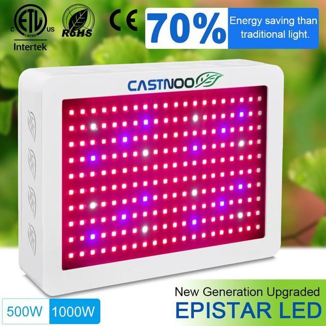 Us 61 28 5 Off Castnoo Portable Multi Grow Light Angel 500w 1000w Full Spectrum High Yield Led Best For Indoor Plants In